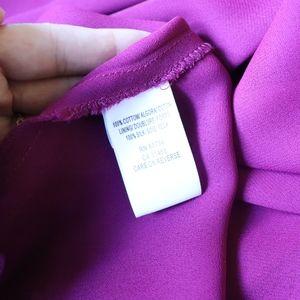 BCBGMaxAzria Dresses - BCBG MAXAZRIA | magenta silk ruffle halter dress